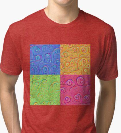 Deep Dreaming of a Color World 3K Tri-blend T-Shirt