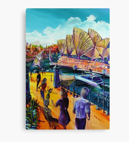 the Sydney Opera House The Meeting Canvas Print