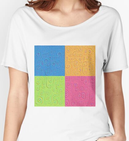 Deep Dreaming of a Color World 4K Saturation Women's Relaxed Fit T-Shirt
