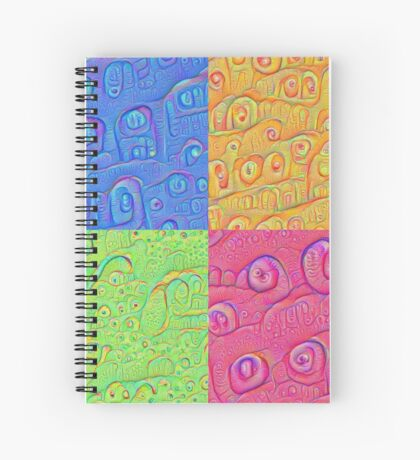 Deep Dreaming of a Color World 3K Spiral Notebook