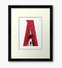 Superhero Alphabet : A Framed Print