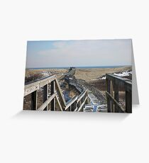 Plum Island Boardwalk Greeting Card