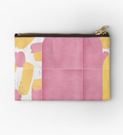 Bold Painted Tiles 02 #redbubble #midmod Zipper Pouch