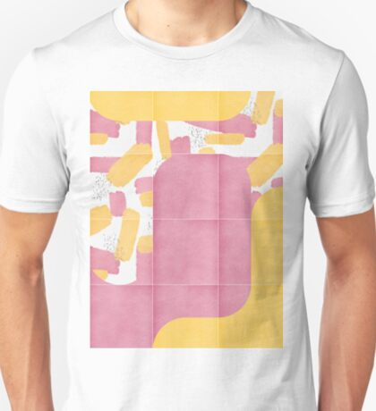 Bold Painted Tiles 02 #redbubble #midmod T-Shirt