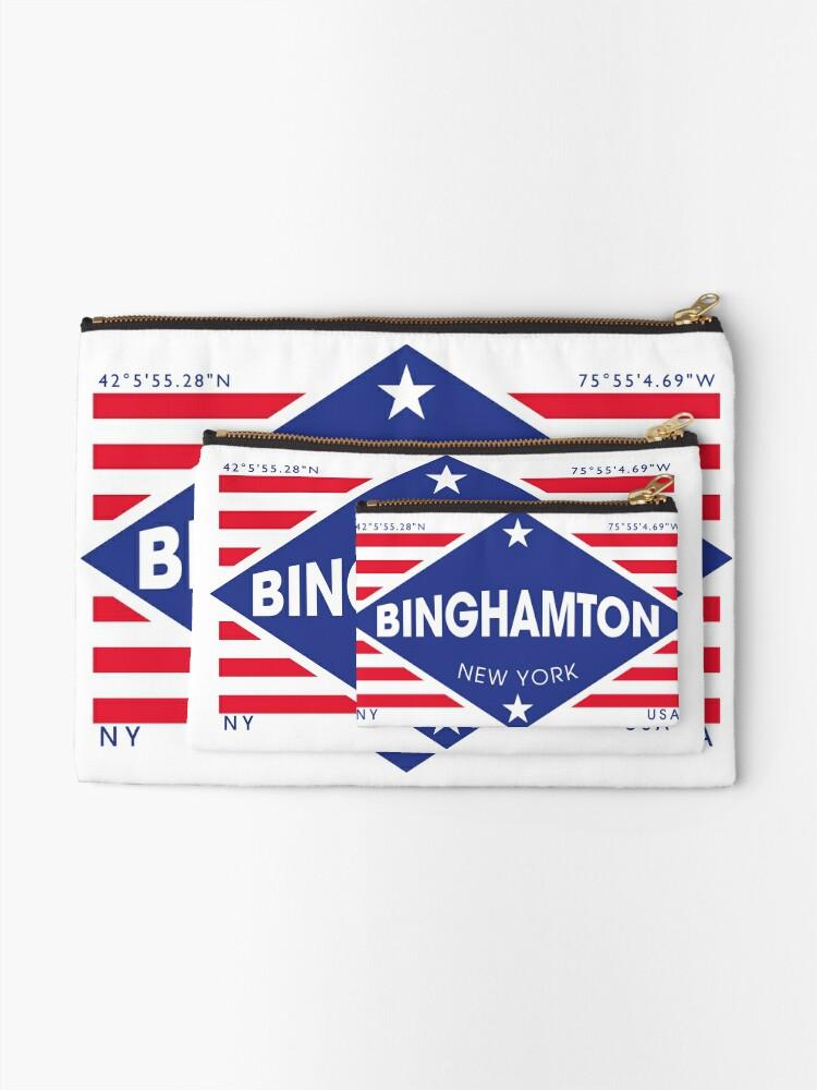 Vista alternativa de Bolsos de mano Binghamton, New York - Diamond Flag
