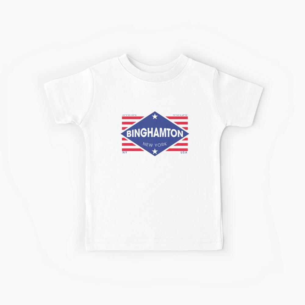 Binghamton, New York - Diamond Flag Camiseta para niños