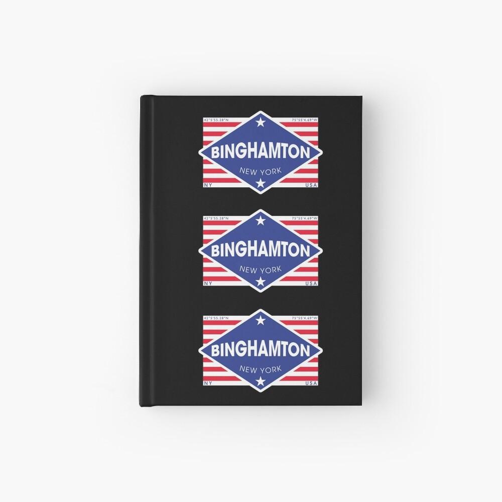 Binghamton, New York - Diamond Flag Cuaderno de tapa dura