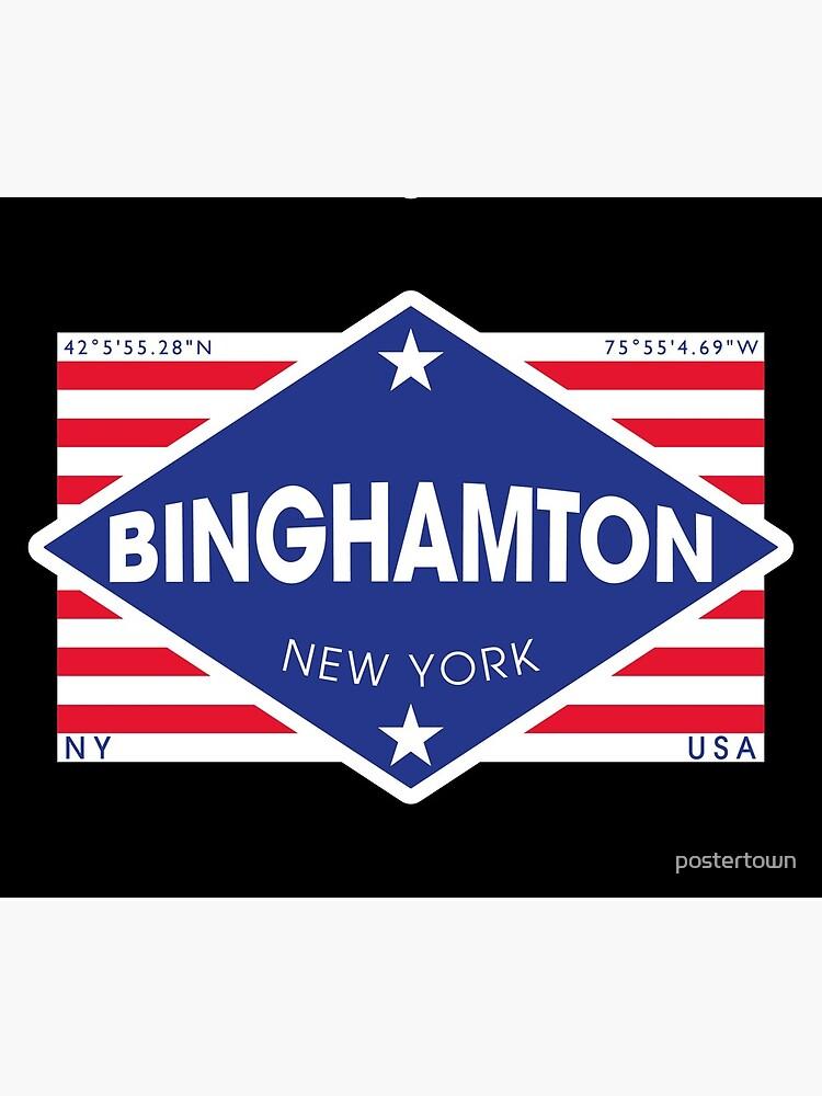 Binghamton, New York - Diamond Flag de postertown