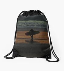 Last Ride of the Season Drawstring Bag
