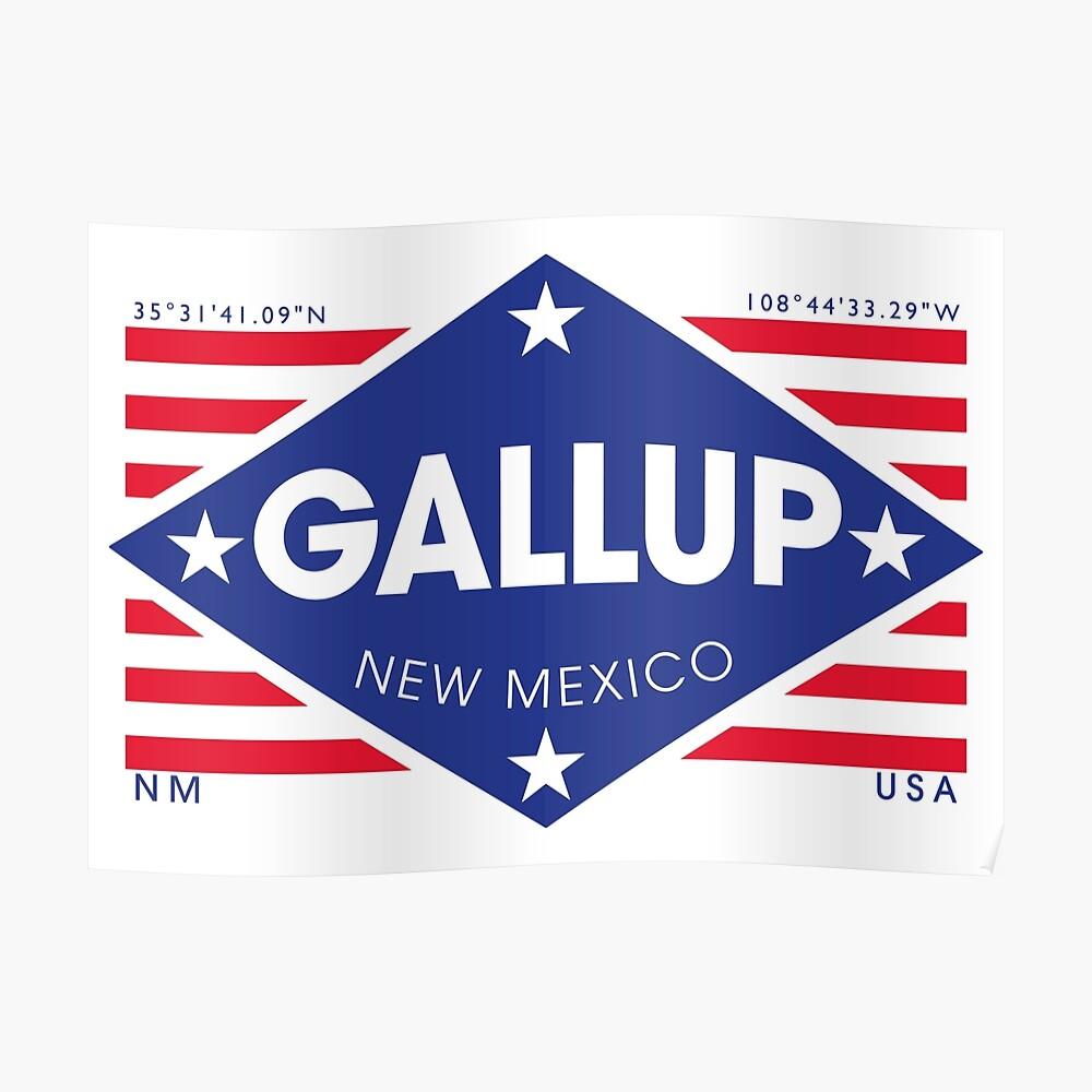 Gallup, New Mexico - Diamond Flag Póster
