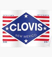 Póster Clovis, New Mexico - Diamond Flag