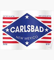 Póster Carlsbad, New Mexico - Diamond Flag