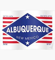 Póster Albuquerque, New Mexico - Diamond Flag
