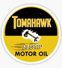 Tomahawk Motor Oil Shirt Sticker
