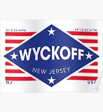 Póster Wyckoff, New Jersey - Diamond Flag