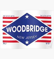 Póster Woodbridge, New Jersey - Diamond Flag