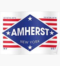 Póster Amherst, New York - Diamond Flag