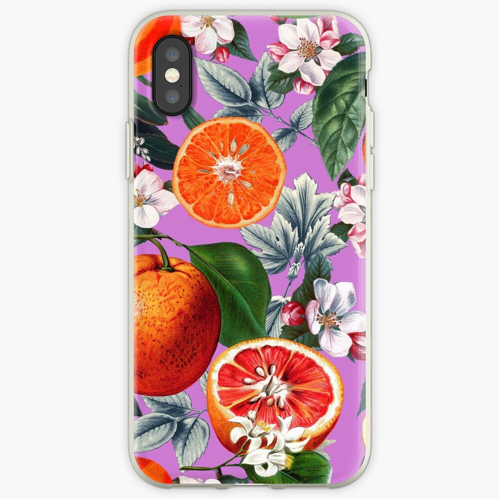 Vintage Fruit Pattern X iPhone Cases & Covers