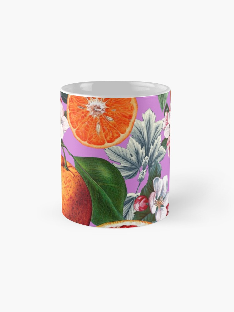 Alternate view of Vintage Fruit Pattern X Mug
