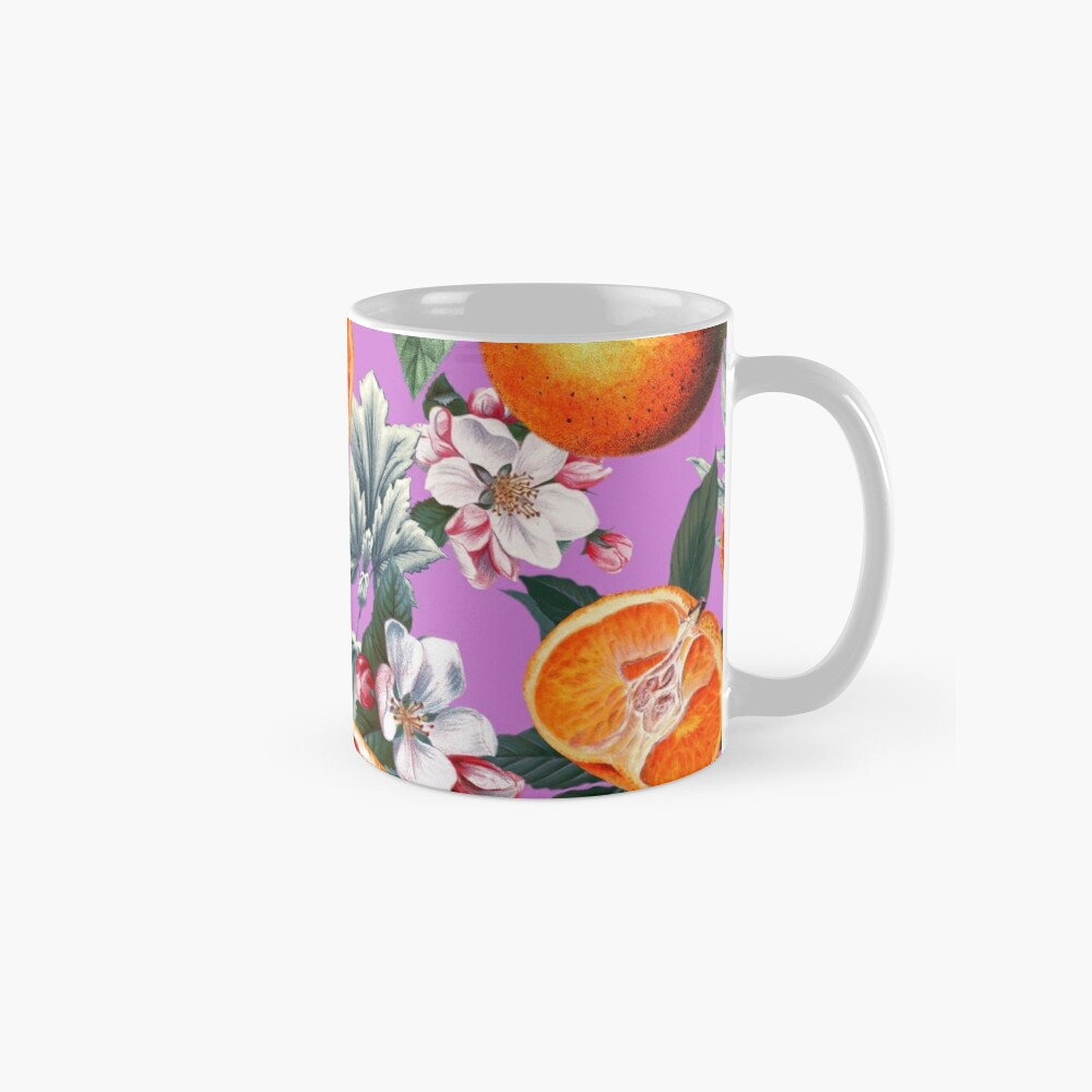 Vintage Fruit Pattern X Mug