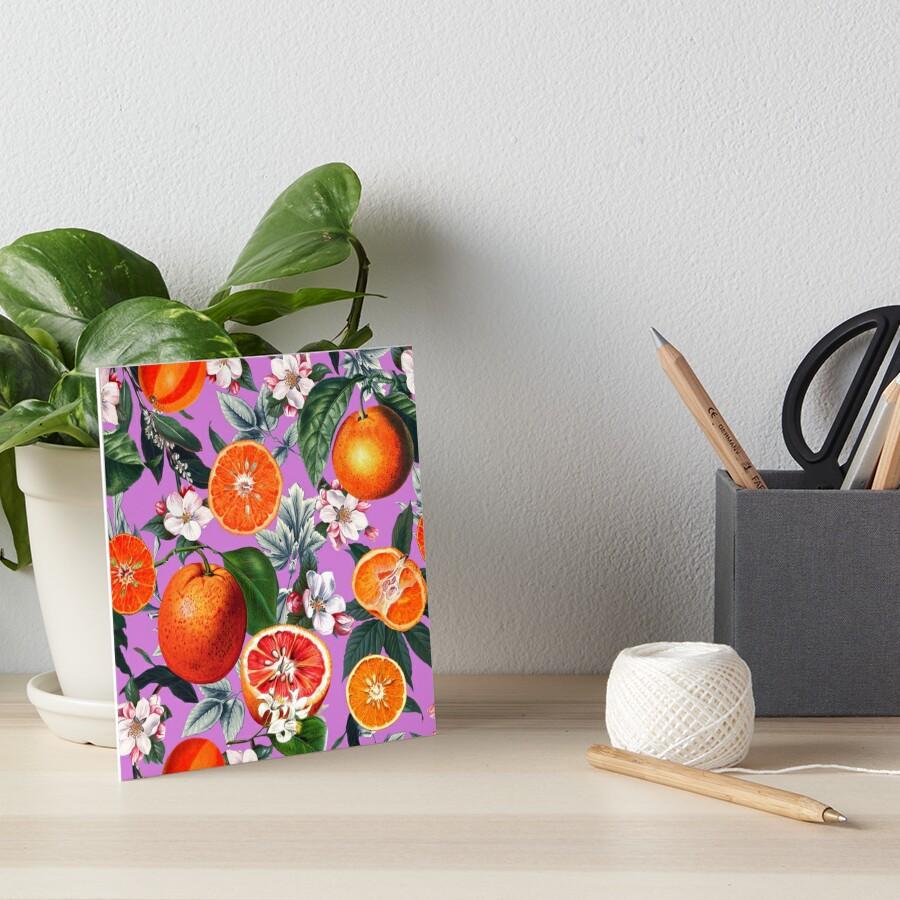 Weinlese-Frucht-Muster X Galeriedruck