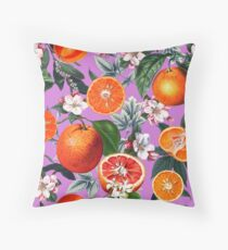 Vintage Fruit Pattern X Throw Pillow