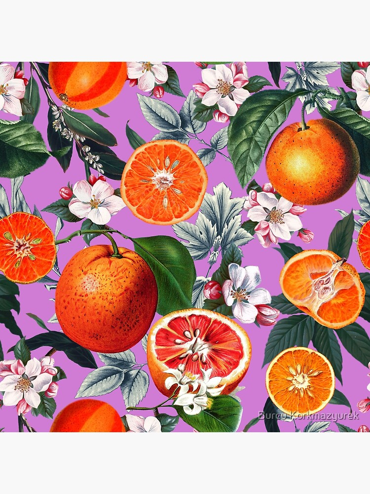 Vintage Fruit Pattern X by burcukyurek