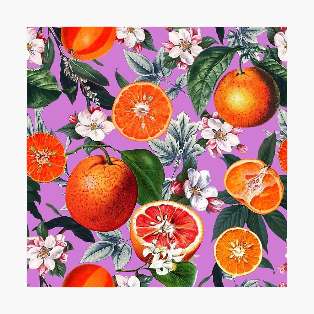 Weinlese-Frucht-Muster X Fotodruck