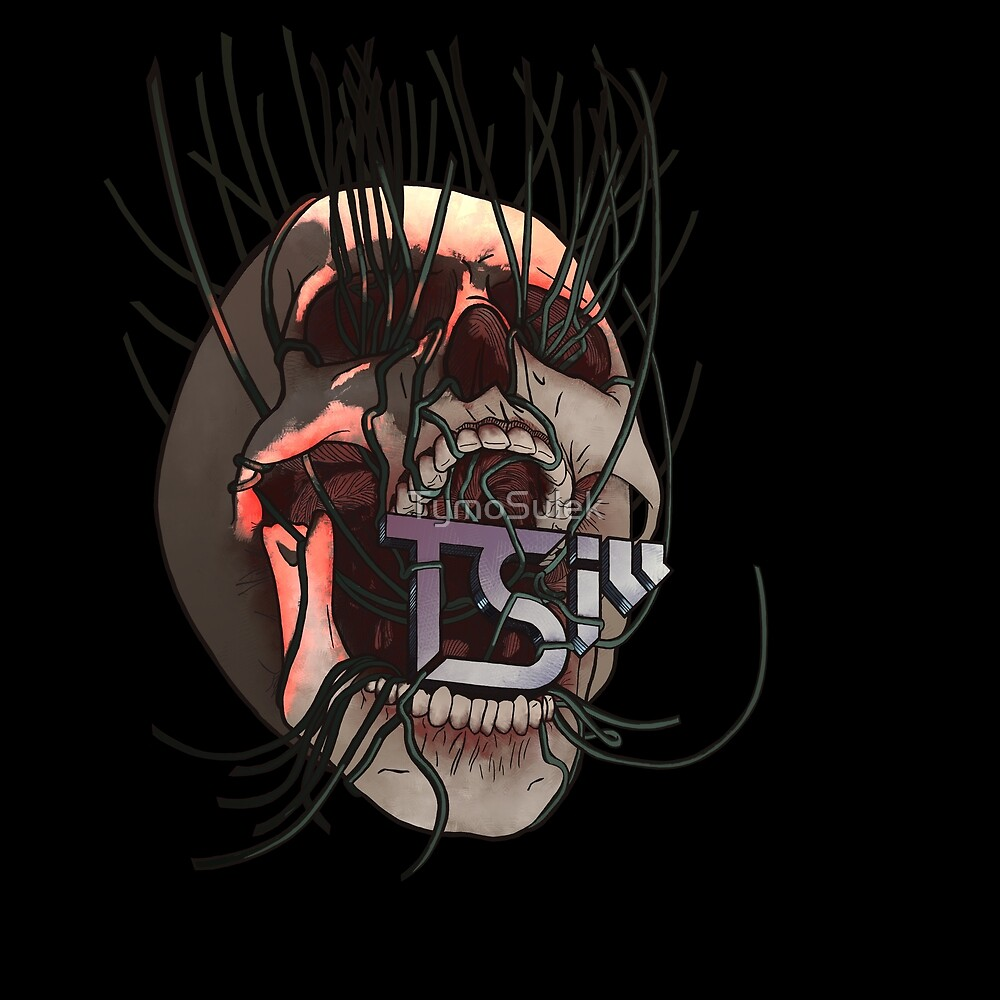 Vines Skull | TSIll logo | Graveyard | Blood Red | by TymoSulek