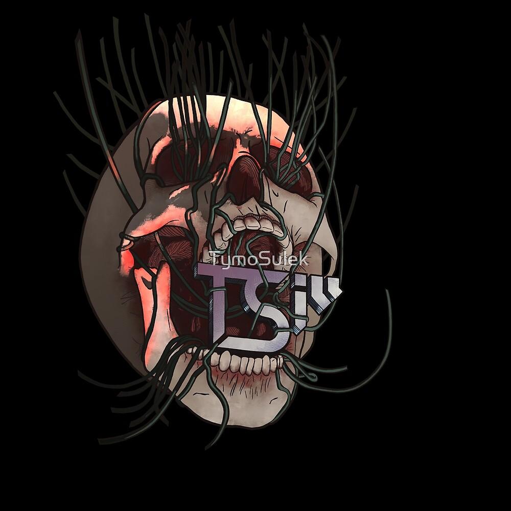 Vines Skull   TSIll logo   Graveyard   Blood Red   by TymoSulek