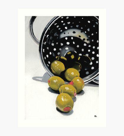 Olives in a Colander Art Print