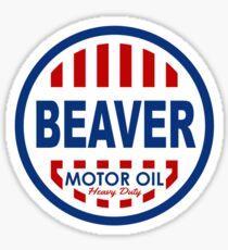 Beaver Motor Oil Shirt Sticker