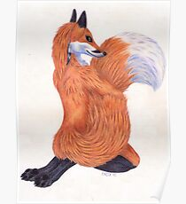 Anthro Fox Poster