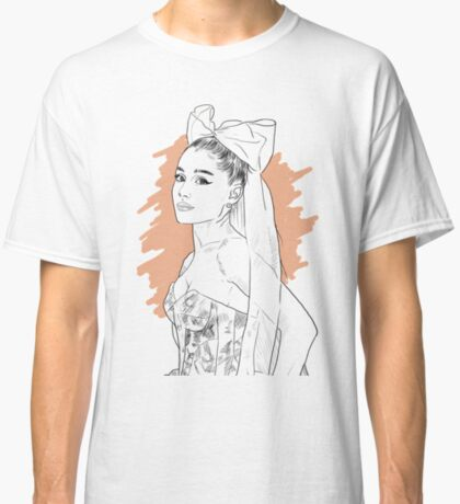 Bow tie singer drawing Classic T-Shirt
