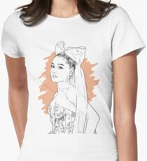 Bow tie singer drawing Fitted T-Shirt