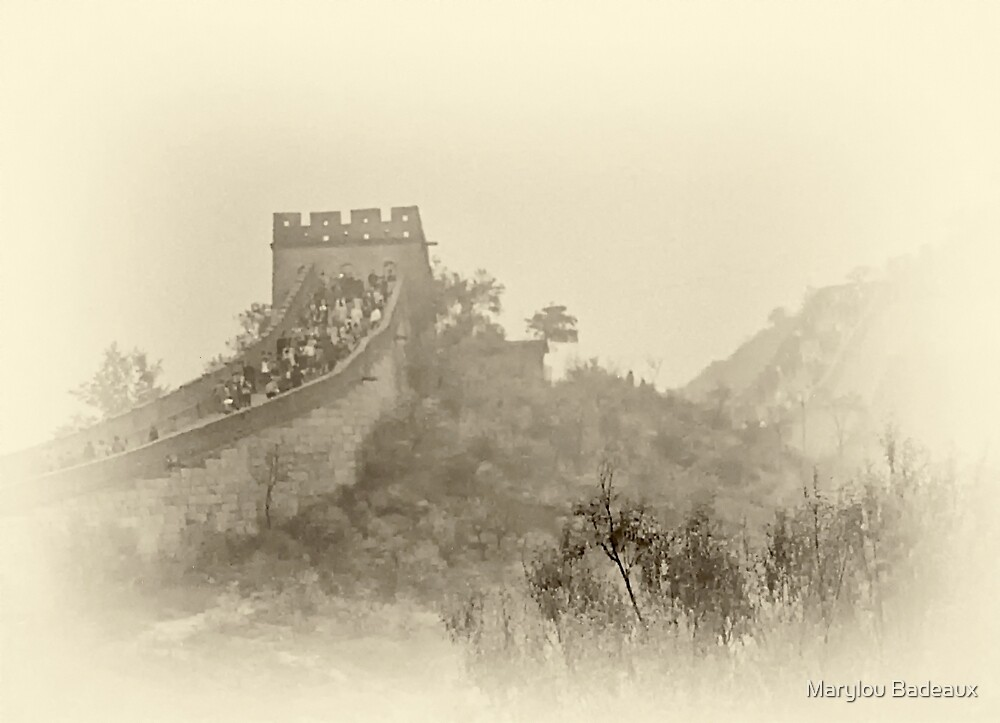 Great Wall of China by Marylou Badeaux