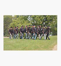 Civil War Reenactment Photographic Print
