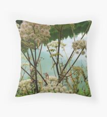 Summer by the River Throw Pillow