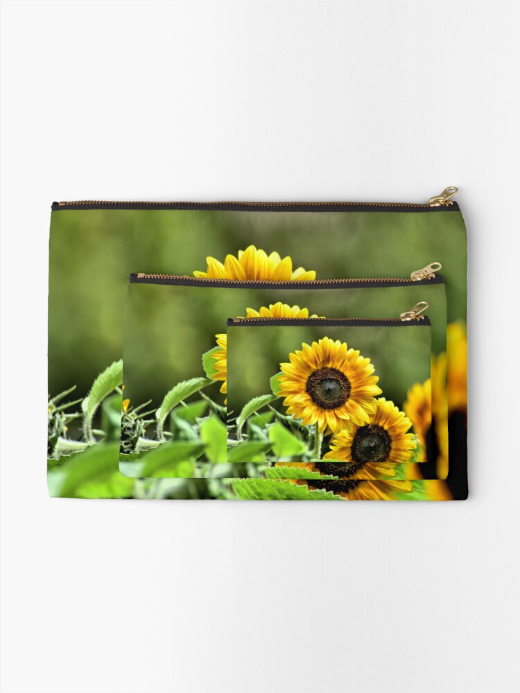 Alternate view of Sunflowers Zipper Pouch