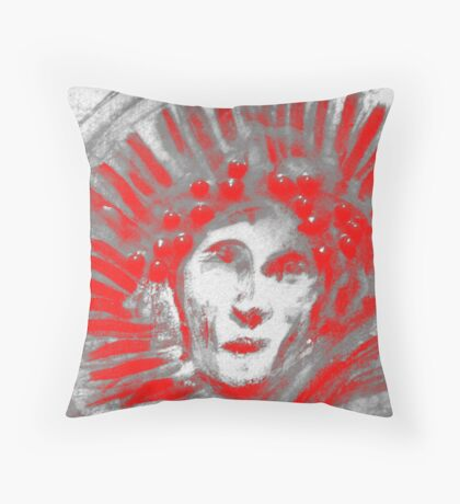 Icarus Red Throw Pillow