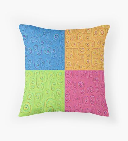 Deep Dreaming of a Color World 4K Saturation Throw Pillow
