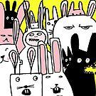 mob of bunnies by davepockett