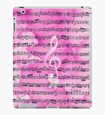 Vinilo o funda para iPad Hoja de música clásica de la vendimia de la acuarela rosada