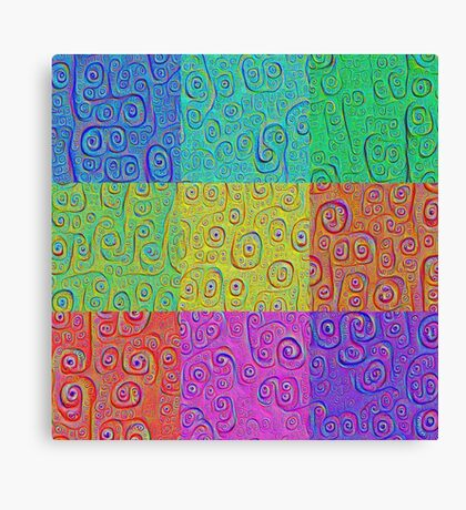 Deep Dreaming of a Color World 2K Canvas Print