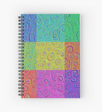 Deep Dreaming of a Color World 2K Spiral Notebook