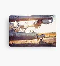 Military Airplane Abandoned  Canvas Print