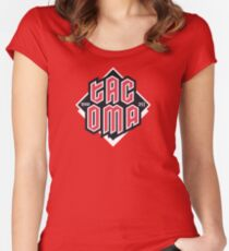 Tacoma but in red Fitted Scoop T-Shirt