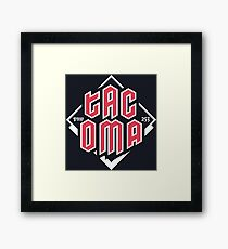 Tacoma but in red Framed Print