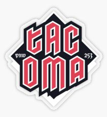 Tacoma but in red Transparent Sticker