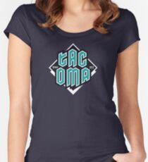 Copy of Tacoma but in teal! Fitted Scoop T-Shirt